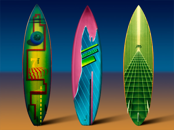 Airbrushed Surfboards